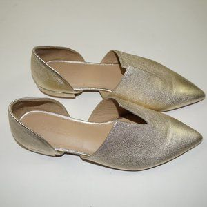 VINCE Metallic Gold DARLINGTON Flats